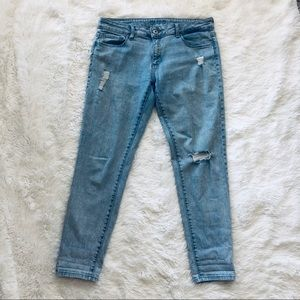 DL 1961 Distressed Azalea Relaxed Skinny Finn